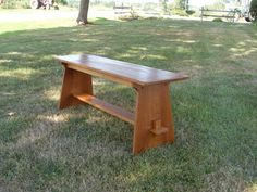 Mission Style Bench custom made by The Frugal Woodworker Craftsman Benches, Craftsman Style, Exterior Design, Home Interior Design, Taco Time, Bench Designs, Kitchen Benches, Picnic Table, Woodworking Projects