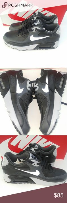 check out 7bd3f db455 Women s Girls Nike Air Max 90 Brand new with box authentic Classic  Black gray Nike Air Max 90 for every day wear. Perfect to run errands, gym  training and ...