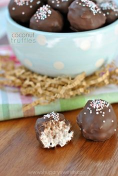 Coconut Cream Truffles are the perfect treat for any Spring Holiday!