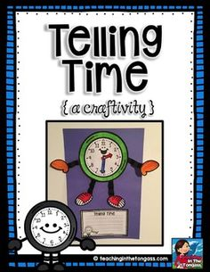 Freebie! Do you teach telling time to your students? This clock craftivity may be a fun way to kick off learning how to tell time! I've included a few different ways it can be used...it's up to you how to incorporate it!