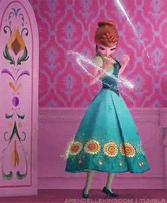 I like this scene and all, but since when can Elsa conjure clothing? If it's made out of ice, wouldn't Anna be cold?