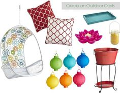 How to make over your outdoor space - bright colors and fun details! from @megsp22