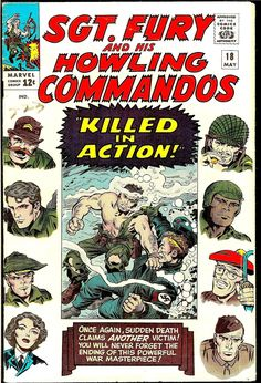 The Marvel(ous) Sgt. Fury And His Howling Commandos Covers Of Jack Kirby
