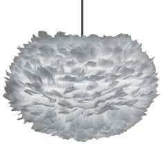 Eos fjäderlampa pendel S, grå i gruppen Belysning / Lampor / Taklampor hos RUM21.se (1025118)