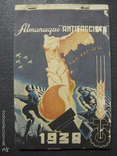 Libros antiguos: ALMANAQUE ANTIFASCISTA-AÑO 1938-CNT FAI JJLL- GUERRA CIVIL-COMPLETO CON ENCARTES-VER FOTOS-(XL-36) - Foto 2 - 57716763