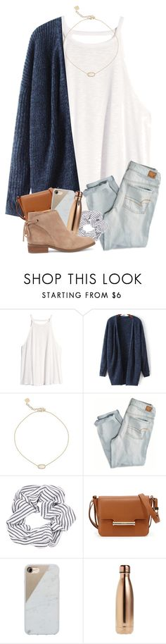 """""""No better time than now"""" by magsvolleyball2 ❤ liked on Polyvore featuring H&M, Kendra Scott, American Eagle Outfitters, Topshop, Jason Wu, Native Union, S'well and Sole Society"""