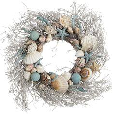 Welcome the warmer seasons ahead with a cool Coastal Shells Wreath.
