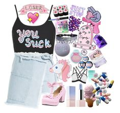 """""""i'm done"""" by allisjess ❤ liked on Polyvore featuring Topshop, Sandy Liang, Nila Anthony, Sephora Collection, Accessorize, Nikki Strange and Youme"""