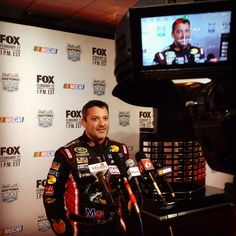 @StewartHaasRcng  02/12/2015  Picture in Picture. #NASCAR Daytona Media Day.