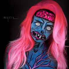 Glam and Gore derp zombie makeup