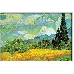 @Overstock - Artist: Vincent Van Gogh   Title: Cypresses   Product type: Canvas art http://www.overstock.com/Home-Garden/Vincent-Van-Gogh-Cypresses-Canvas-Art/5170158/product.html?CID=214117 $45.49