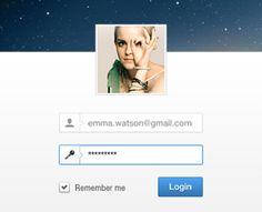 Minimal Login User Interface by creattica (via Creattica)