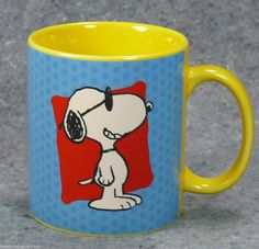 Snoopy Loves You! Peanuts Snoopy Call Me Sugar Lips Coffee Mug Tea Cup United Feature Syndicate #Peanuts #snoopy