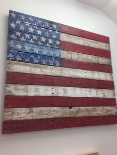 Flag art created from a pallet