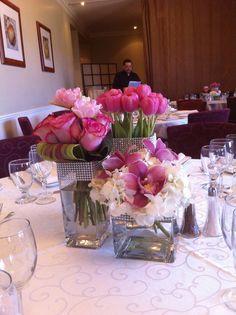 girly centerpieces by fleursdesjardins