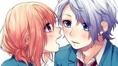 Hina and Koyuki Romantic Anime Couples, Romantic Manga, All Anime, Anime Guys, Anime Art, Koi, Zutto Mae Kara, Honey Works, Korean Painting