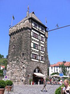 Esslingen am Neckar, Germany Best ice cream store in that tower!