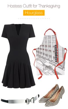 Hostess-outfit-for-thanksgiving-Hourglass shaped women... what to wear on thanksgiving if you are hosting a dinner... quick outfits with great aprons along!
