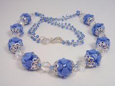 CornFlowers   Flickr - Photo Sharing! Gems Jewelry, Beaded Jewelry, Beaded Necklace, Beaded Bracelets, Jewellery, Fabric Origami, Beading Patterns, Beads, Beautiful