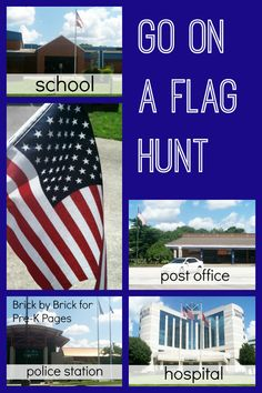 Go on a Flag Hunt. A Fun Patriotic Activity that will get your preschool and kindergarten kids talking about the American flag and develop literacy skills at the same time! frugal travel tips Kindergarten Social Studies, Social Studies Activities, Teaching Social Studies, Pre K Activities, Kindergarten Activities, Preschool Activities, Preschool Classroom, Summer Activities, American Symbols