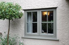 New Double Glazed Wooden Casement Windows - Timber Windows Esher, Surrey Cottage Windows, Cottage Door, House Windows, Cottage Homes, White Cottage, French Cottage, Cottage Style, Wooden Casement Windows, Timber Windows