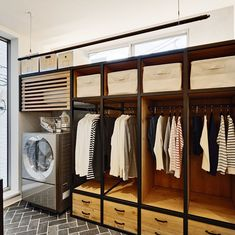 Easy Design Ideas For Unsophisticated Lives Bedroom Closet Design, Laundry Room Design, Home Room Design, Laundry In Bathroom, House Design, Room Interior, Interior Design Living Room, Easy Wood Projects, House Rooms