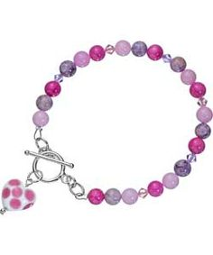 This genuine Murano glass heart bracelet has a dotty design in pink. A lovely gift, or a treat for yourself. Perfect for dressing up a simple outfit in the day or wearing on a night out and part of the Pretty Pastels look at Argos.