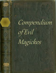 """Compendium of Evil Magickes a site with lots of wizarding-style book cover to print on regular piece of paper and tape to old hardback book this one could go in the """"Restricted Section"""" in Hogwarts Library for a Harry Potter party Harry Potter Library, Hogwarts Library, Harry Potter Classroom, Harry Potter Decor, Harry Potter Party Games, Harry Potter Activities, Game Ideas, Craft Ideas, Book Themes"""