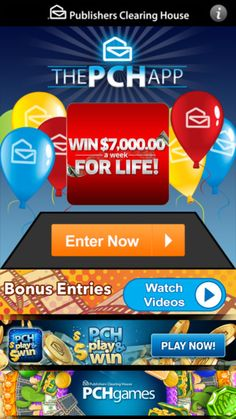 publishers clearing house instant win games