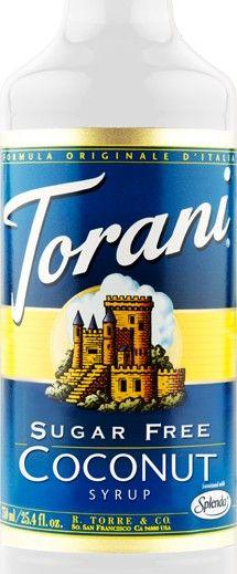 Sugar Free Coconut Torani Syrup