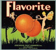 Los Angeles Flavorite Pixie Orange Citrus Crate Label Art Print