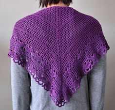 Panda Silk crochet shawl