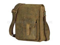 Le Bazaar Hunter - Leder Umhängetasche Herren Tasche Schultertasche Postbag - antikbraun 28002-03