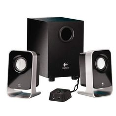 Logitech Sound System WIth Subwoofer PC Computer music dvd movies video audio