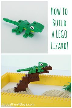 Here are some building instructions for making a cute little LEGO Lizard! My 9 year old son designed this LEGO lizard, and I thought he did a great job! Here's how to build it: Step 1: Start with a 1 x 2 – 1 x 2 inverted bracket (green), a 2 x 4 lime green...Read More »