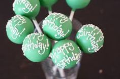 Happy Birthday Cake Pops Cakes Treats