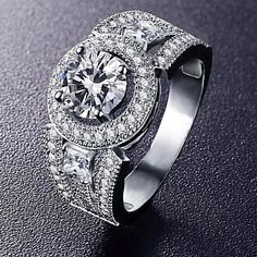 Wedding Silver Cubic Zircon Ring