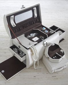 """""""Florence"""" Jewelry Keep at Horchow. $165.00. I kid you not, the first thing I thought when I saw a thumbnail of it was """"Designer Outer Space Toolbox."""""""