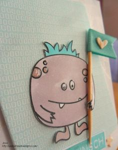 Create A Smile Stamps cute Monster card