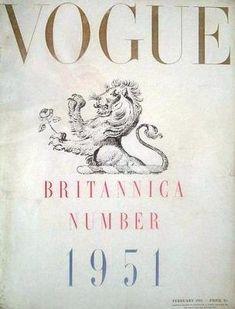 Vintage Vogue magazine covers - mylusciouslife.com - Vintage Vogue UK February 1951.jpg