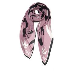 McQ Alexander McQueen Women's Swallow Storm Scarf - Heather (3.120 UYU) ❤ liked on Polyvore featuring accessories and scarves