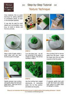 Textured fondant grass tutorial