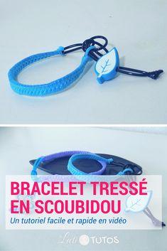 On prépare l'été ? Voici le bracelet tressé en scoubidou ! - sur www.LaetiTutos.fr