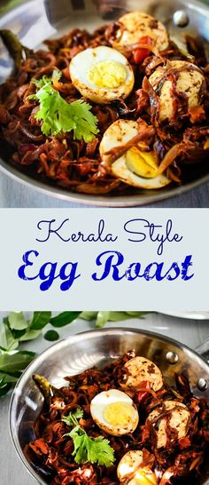 Learn how to make Kerala Style Egg Roast / Naadan Mutta Roast with me in a very easy manner. This egg roast goes with hot rice, rotis, appams etc. It gets ready Indian Beef Recipes, Goan Recipes, Curry Recipes, Kerala Recipes, Ethnic Recipes, Healthy Recipes, Egg Roast, Breakfast Recipes, Dinner Recipes