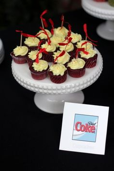 Diet Coke Days: Diet Coke Cupcakes Okay is it wrong that I want this at my wedding. The day won't be complete without such genius.
