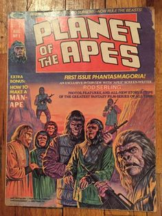 Marvel Stan Lee Planet of The Apes Number 1 August 1974 Comic Magazine | eBay