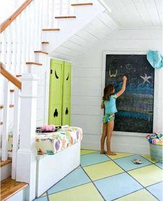 blackboard--painted floor
