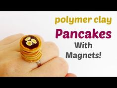 Miniature Pancakes - Polymer clay tutorial - with magnets! - YouTube