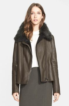 Nordstrom Signature and Caroline Issa Genuine Shearling Coat available at #Nordstrom
