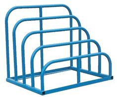 """Vestil VHSR-4 Steel Variable Height Sheet Rack, 47"""" Width x 41-3/4"""" Height x 36"""" Depth by Vestil. $533.25. Bolt-together units feature adjustable-width uprights. Uniform capacity per bay is 1,500 pounds. Unit is supplied with lag down points. Powder coat blue finish.. Save 27% Off!"""